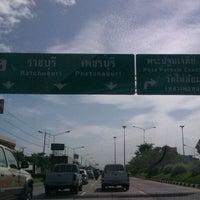 Photo taken at สี่แยกเข้าพระปฐมเจดีย๋ by Nichapha C. on 6/14/2012