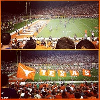 Photo taken at Darrell K Royal-Texas Memorial Stadium by Jillian F. on 9/2/2012