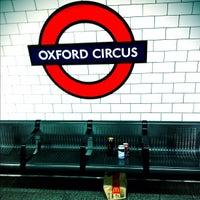 Photo taken at Oxford Circus London Underground Station by Benji R. on 2/5/2012