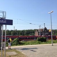 Photo taken at Bahnhof Elstal by дмитрий л. on 7/25/2012