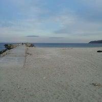 Photo taken at Плаж Аспарухово (Asparuhovo beach) by Temenujka N. on 2/26/2012