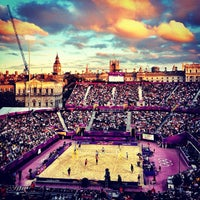 Photo taken at London 2012 Horse Guards Parade by Rory C. on 8/27/2012