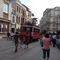 Photo taken at Tünel Tramvay Durağı by İlker O. on 8/2/2012
