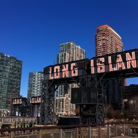 Photo taken at Gantry Plaza State Park by thecoffeebeaners on 2/20/2012