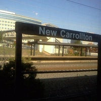 Photo taken at New Carrollton Metro Station by Tinu A. on 11/11/2011