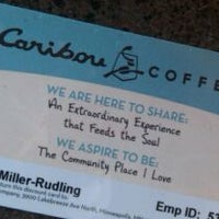 Photo taken at Caribou Coffee by Kelsey R. on 9/12/2011