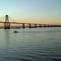 Photo taken at Puente General Belgrano by Sergio S. on 11/25/2011