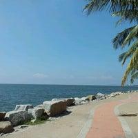 Photo taken at Wonnapa Beach by Chalermpol ^. on 11/1/2011