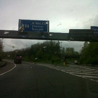 Photo taken at M56 Junction 12 / A557 by Libby R. on 4/27/2012