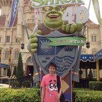 Photo taken at Shrek 4-D Adventure by Ryan G. on 4/4/2012