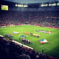 Photo taken at Stadion Wrocław by Nikita K. on 6/9/2012