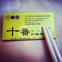 Photo taken at Jyuban Ramen House 十番拉麵屋 by Anson L. on 6/21/2012