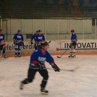 Photo taken at Eisstadion Werner Rittberger Halle by Samla Fotoagentur w. on 1/16/2012