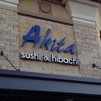 Photo taken at Akita Sushi & Hibachi by Summer V. on 8/18/2012