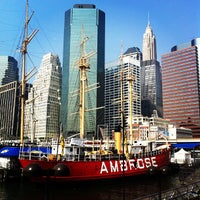 Photo taken at South Street Seaport by Armando E. on 9/7/2012