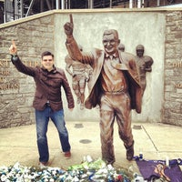 Photo taken at Joe Paterno Statue by Marco T. on 4/28/2012