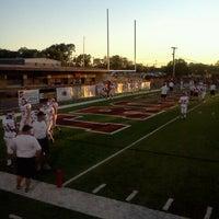 Photo taken at Jenks High School Football Stadium by Kimberly B. on 9/7/2011