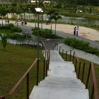 Photo taken at Punggol Waterway Park by Steven T. on 1/14/2012