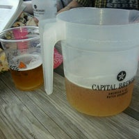 Photo taken at Capital Brewery & Bier Garten by Chuck S. on 8/20/2011
