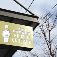 Photo taken at Old School Frozen Custard by Rebecca Z. on 3/31/2012
