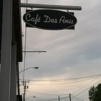 Photo taken at Cafe Des Amis by Tiffany J. on 3/31/2012