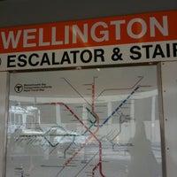 Photo taken at MBTA Wellington Station by Meghan B. on 3/19/2011