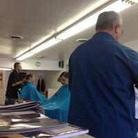 Photo taken at Little Joe & John's Barber Shop by Marc H. on 5/18/2012