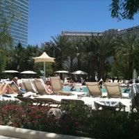Photo taken at ARIA Pool & Cabanas by Yaniv L. on 5/28/2012