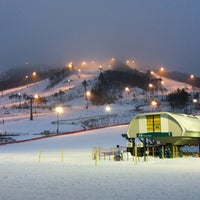 Photo taken at Alpensia Resort Ski Area by Andrey A. on 1/18/2012