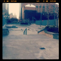 Photo taken at Tribeca Skate Park by Eric G. on 12/9/2011