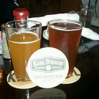 Photo taken at Karl Strauss Brewing Company by Gina V. on 2/20/2012