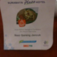 Photo taken at Hotel Plasa Surabaya by Kim B. on 6/5/2012