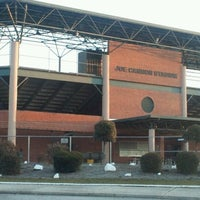Photo taken at Joe Cannon Stadium by Scott R. on 1/14/2012