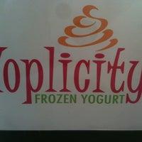 Photo taken at Yoplicity Frozen Yogurt by Mikayla T. on 8/10/2011