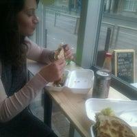 Photo taken at Wrap Up Burritobar by Kristof D. on 11/23/2011