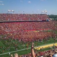 Photo taken at Jack Trice Stadium by Brandon B. on 10/22/2011
