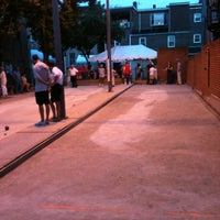 Photo taken at Little Italy Bocce Court by Dan F. on 8/17/2012