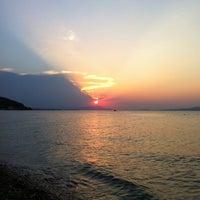 Photo taken at Vlastos beach by Stelios K. on 7/7/2012