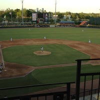 Photo taken at Bragan Field at the Baseball Grounds of Jacksonville by Tim P. on 4/7/2012
