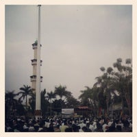 Photo taken at Alun-Alun Lubuk Linggau by Rune W. on 8/19/2012