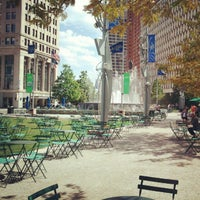 Photo taken at Campus Martius by Cristin M. on 8/5/2012