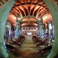 Photo taken at Cripta Gaudí by Hostas R. on 6/19/2012