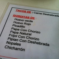 Photo taken at Tacos Pacos by Brianda V. on 4/19/2012