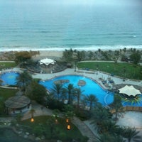Photo taken at Le Méridien Al Aqah Beach Resort by Farid on 6/20/2012