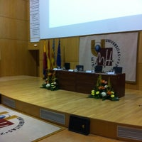 Photo taken at Aula Magna by Sergio M. on 3/24/2012