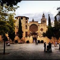 Photo taken at Monestir de Sant Cugat by Santi G. on 8/26/2012