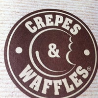 Photo taken at Crepes & Waffles by Daniel G. on 3/25/2012