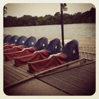 Photo taken at Lady Bird Lake Under Mopac Bridge by Rachel E. on 5/25/2012