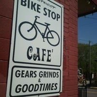 Photo taken at Bike Stop Cafe by Stephanie G. on 3/31/2012