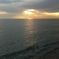 Photo taken at West Beach Selsey by Sallie G. on 4/8/2012